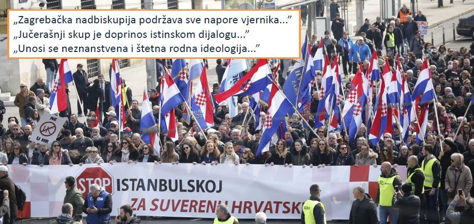 Izjava Tiskovnog ureda Zagrebačke nadbiskupije povodom prosvjeda